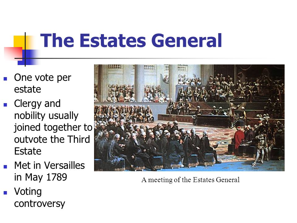 A meeting of the Estates General