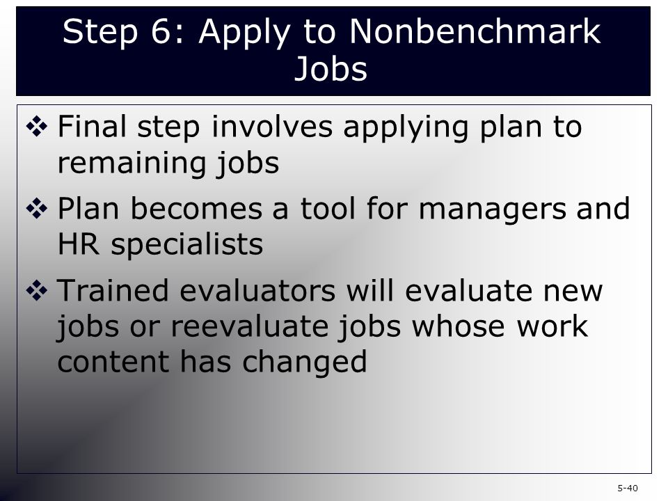 Chapter 5 Job-Based Structures and Job Evaluation - ppt