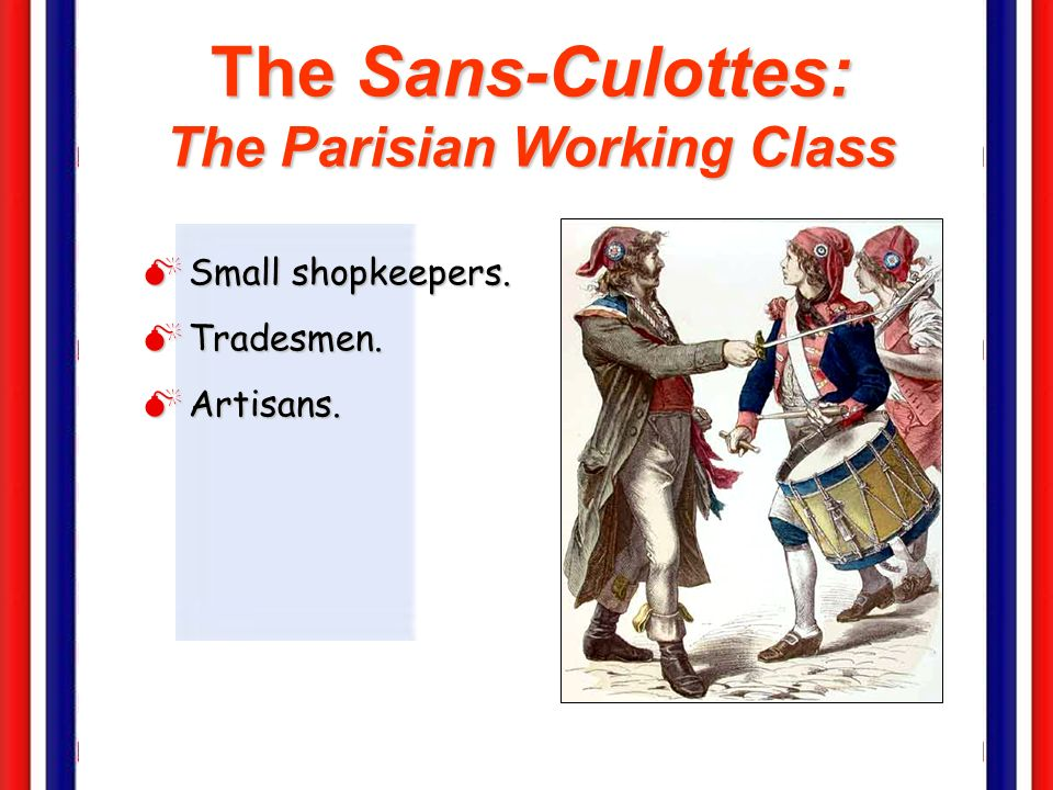 The Sans-Culottes: The Parisian Working Class