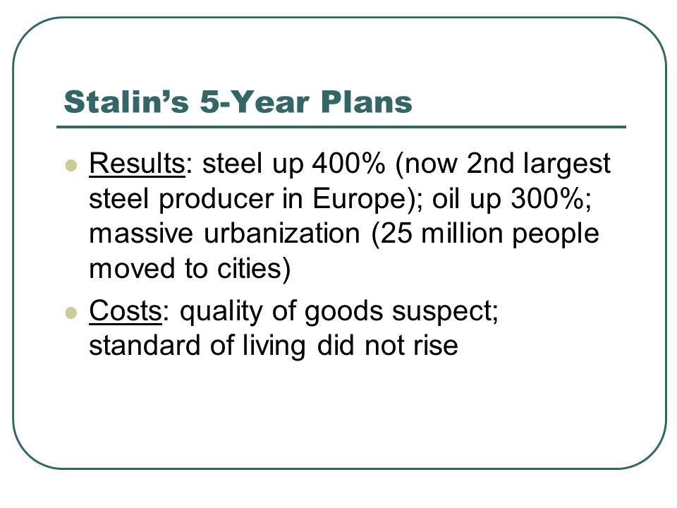 Stalin's 5-Year Plans