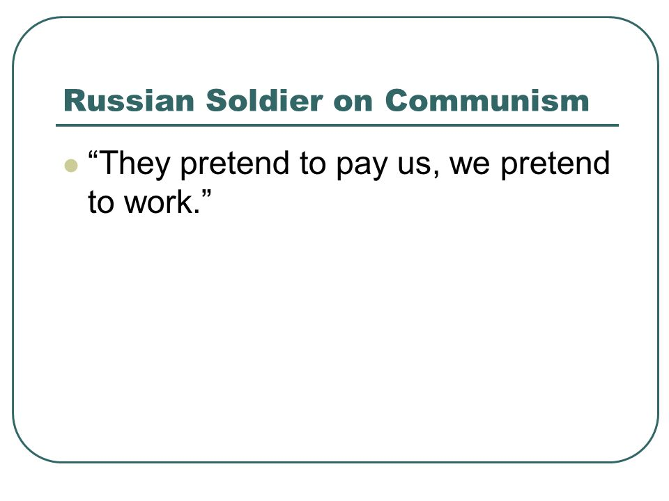 Russian Soldier on Communism