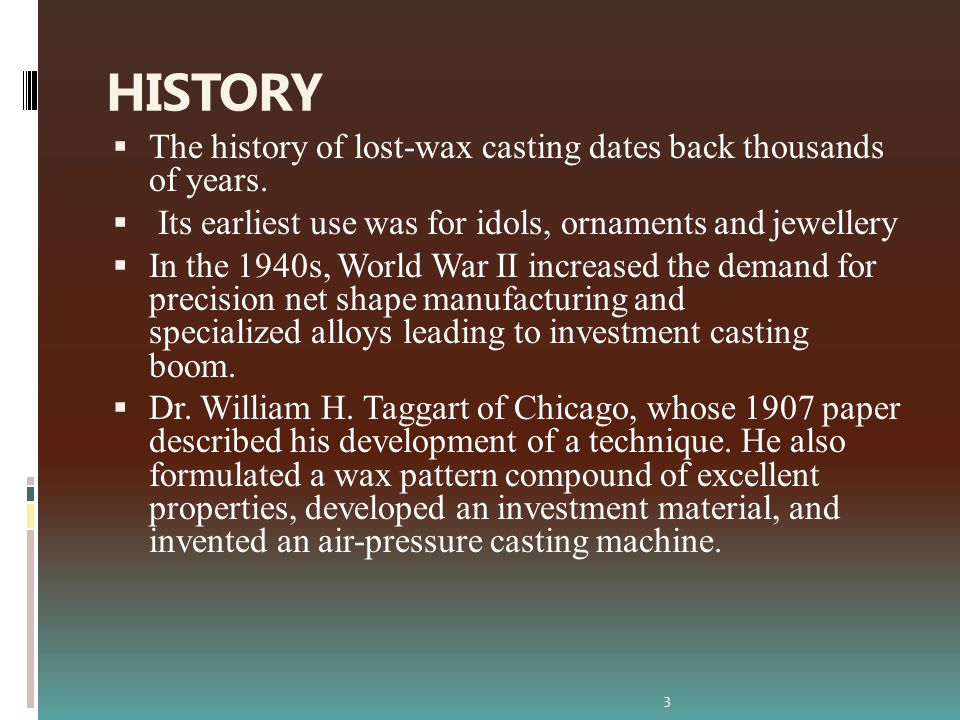 INVESTMENT CASTINGS ppt video online download