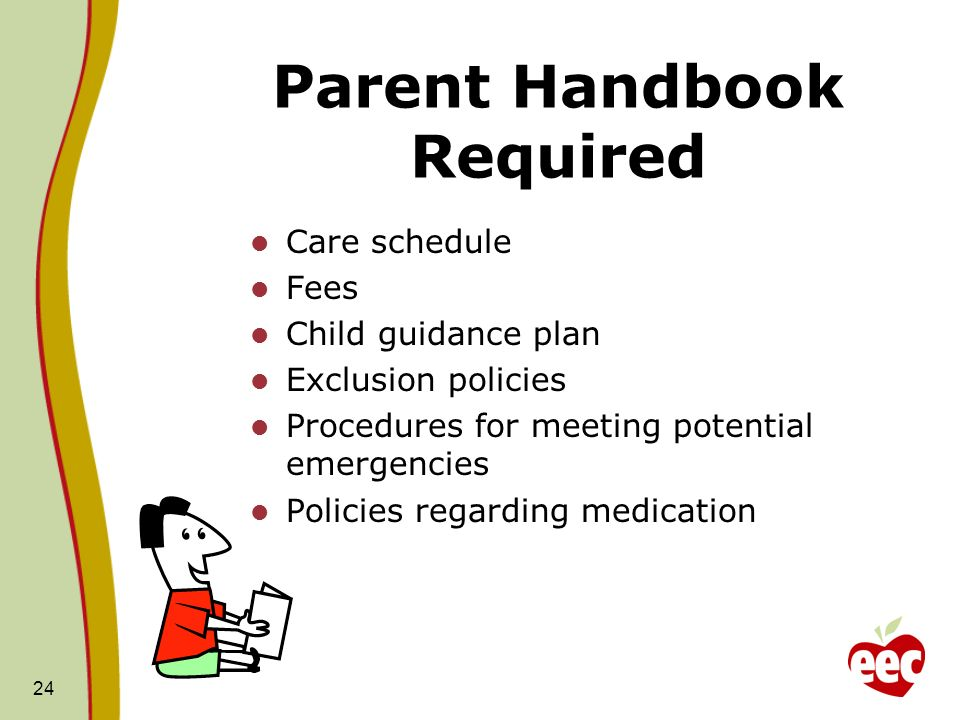 Parent Handbook Required