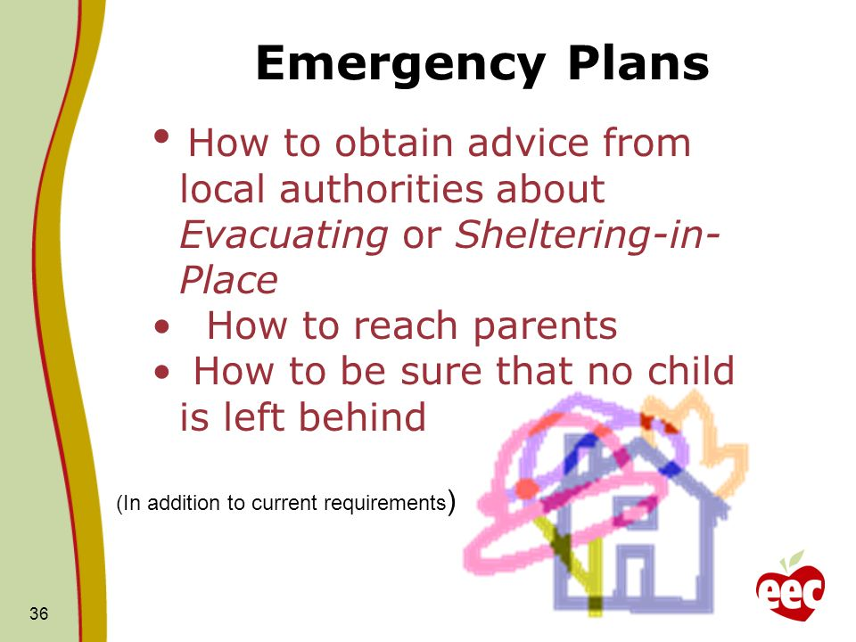 Emergency Plans How to reach parents