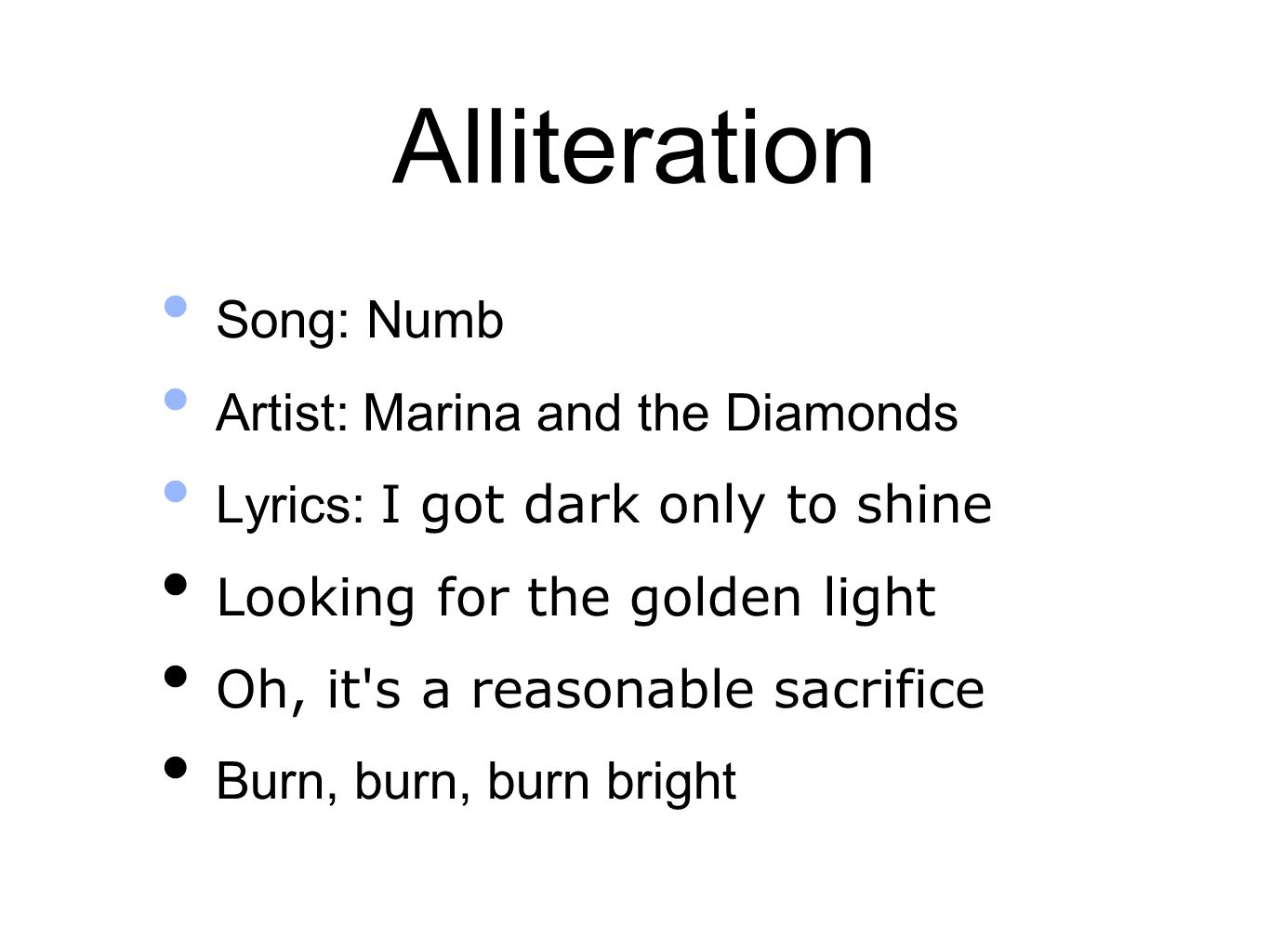 Examples Of Alliteration In Songs Image Collections Example Cover