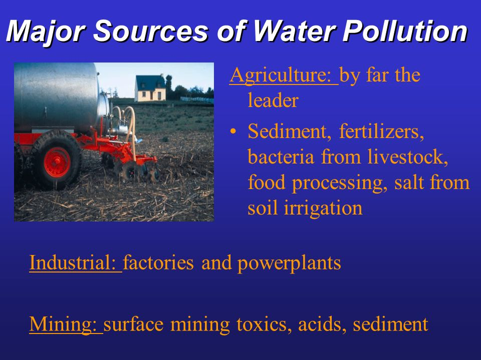 Major Sources of Water Pollution