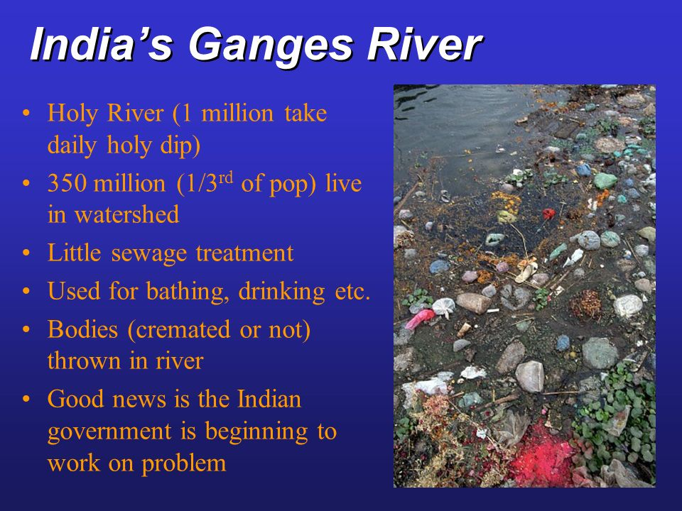 India's Ganges River Holy River (1 million take daily holy dip)