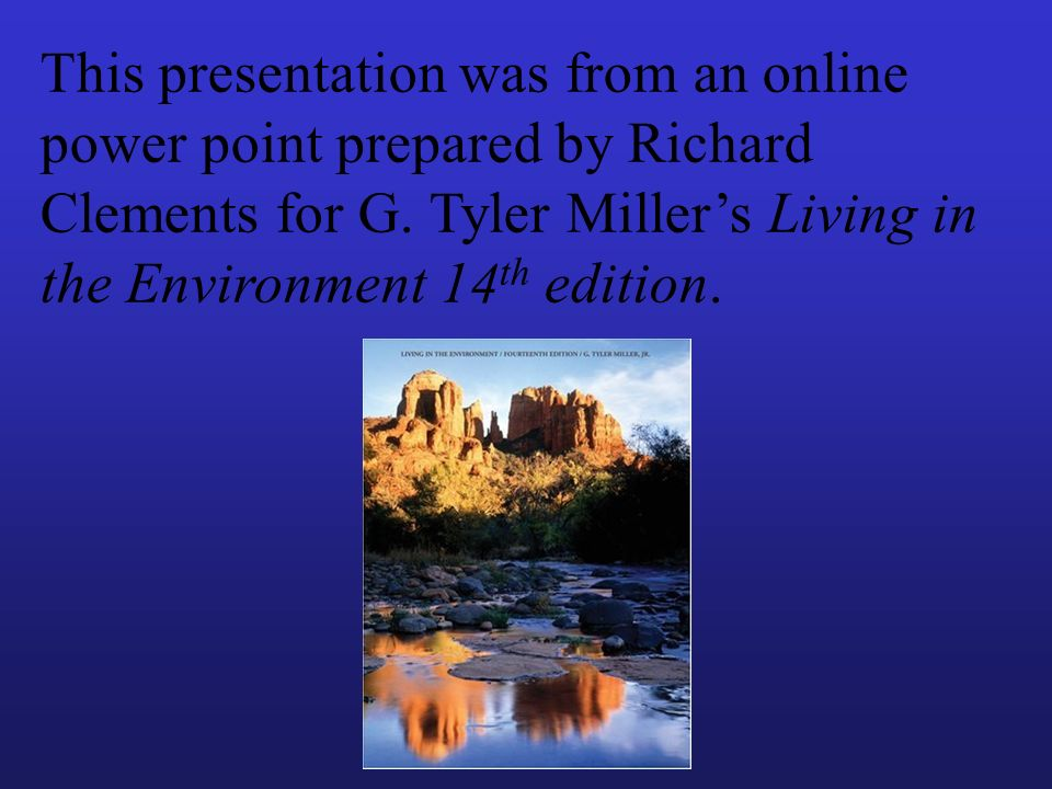 This presentation was from an online power point prepared by Richard Clements for G.