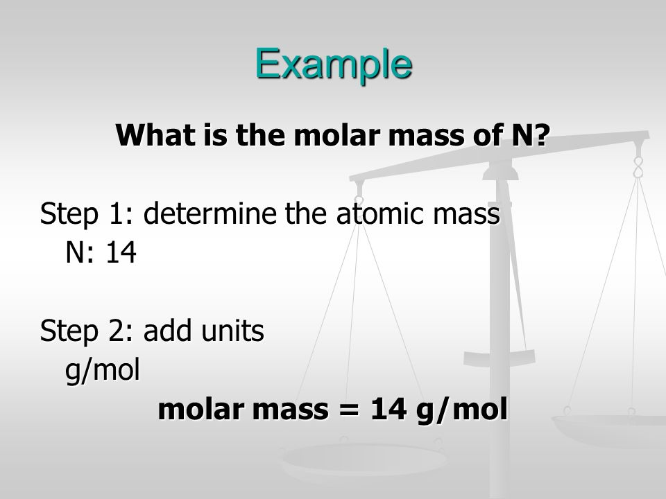 What is the molar mass of N
