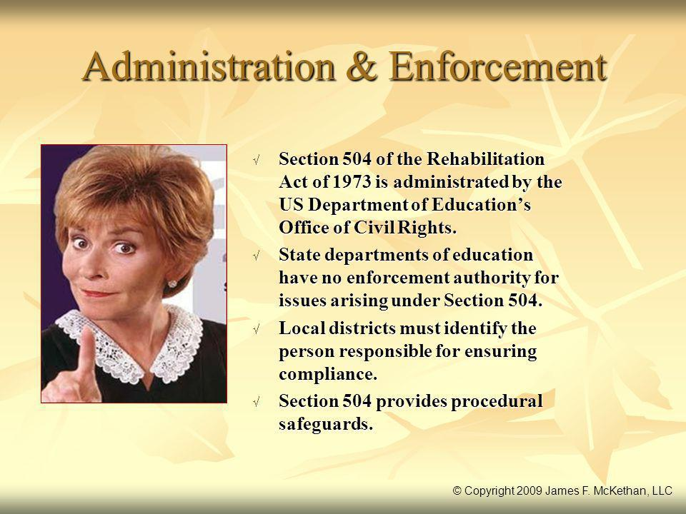 Administration & Enforcement