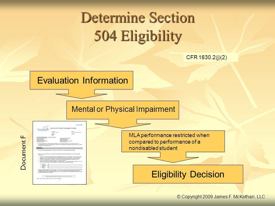 Determine Section 504 Eligibility