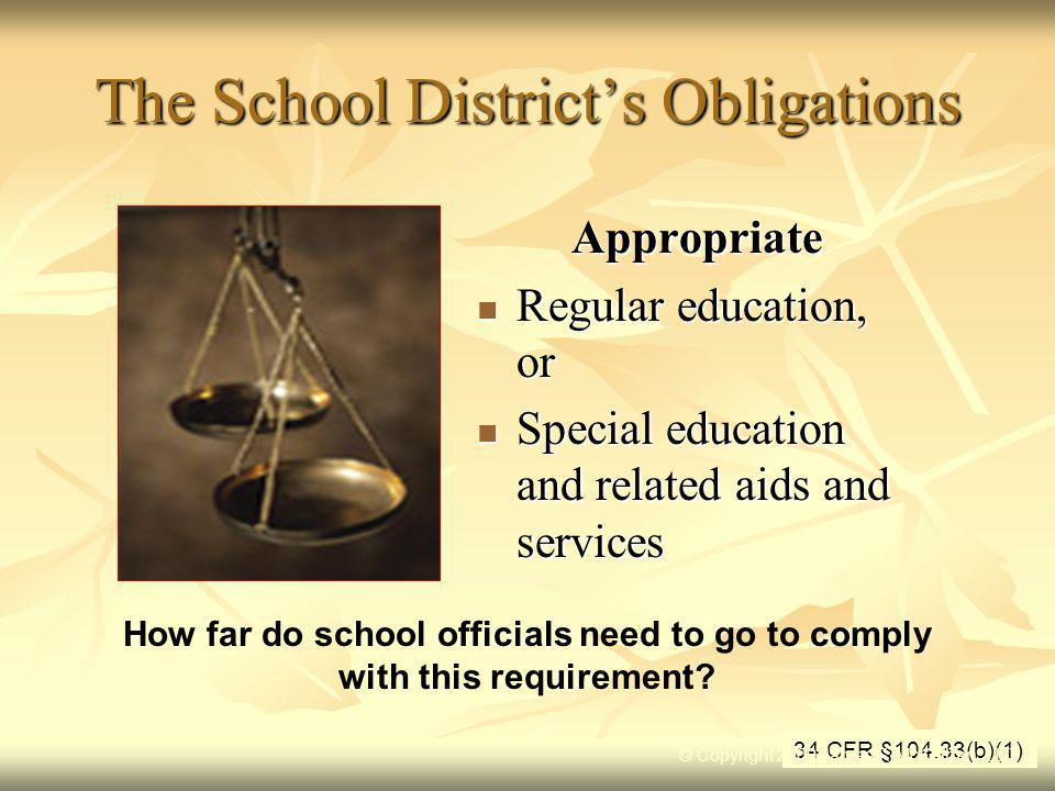 The School District's Obligations