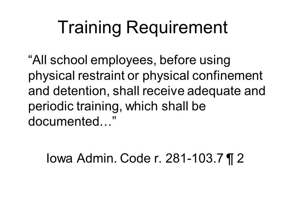 Training Requirement