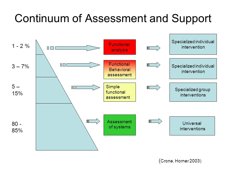 Continuum of Assessment and Support