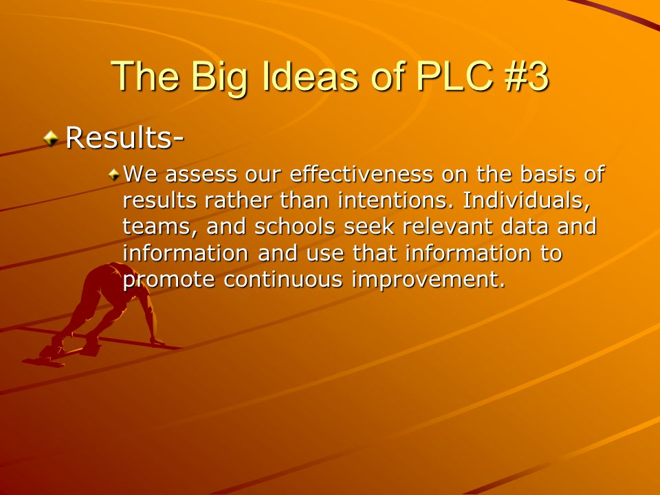 The Big Ideas of PLC #3 Results-