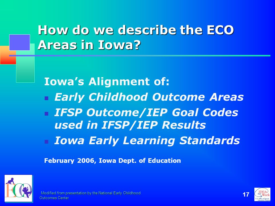 How do we describe the ECO Areas in Iowa