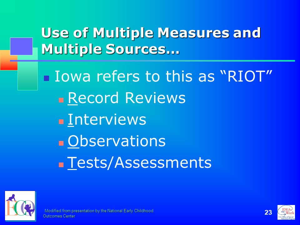 Use of Multiple Measures and Multiple Sources…