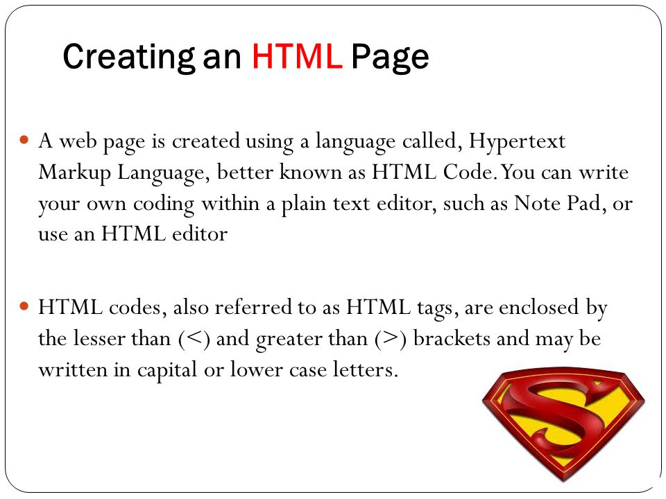 Creating webpage using html ppt download creating an html page spiritdancerdesigns Images