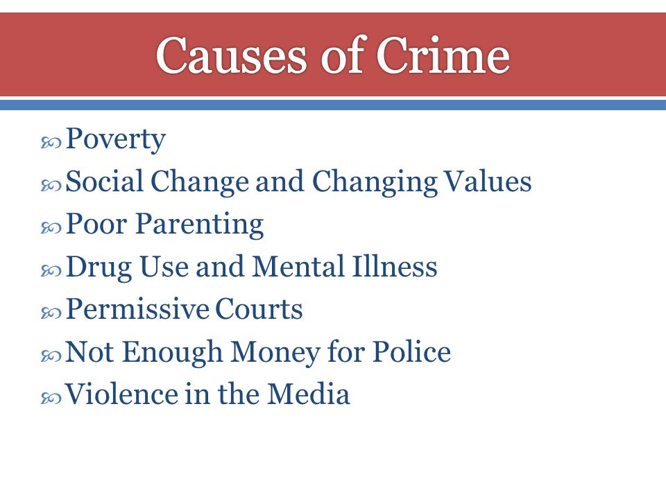 Causes of Crime Poverty Social Change and Changing Values