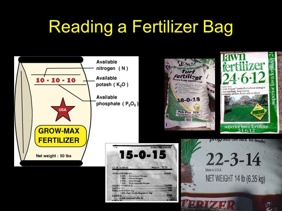 Reading a Fertilizer Bag