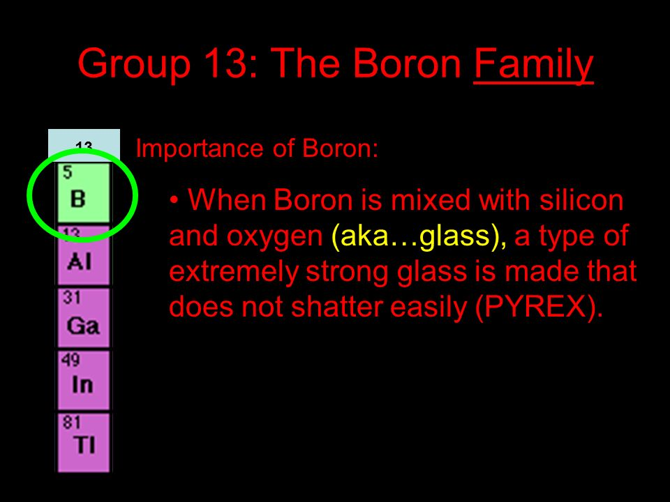 Group 13: The Boron Family