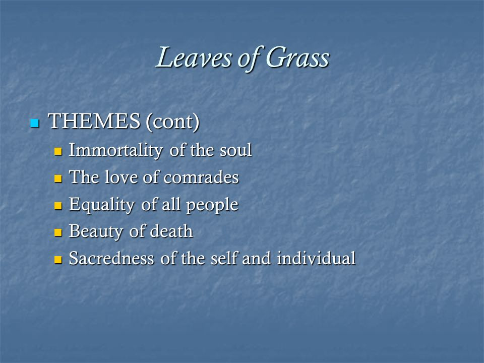 leaves of grass themes