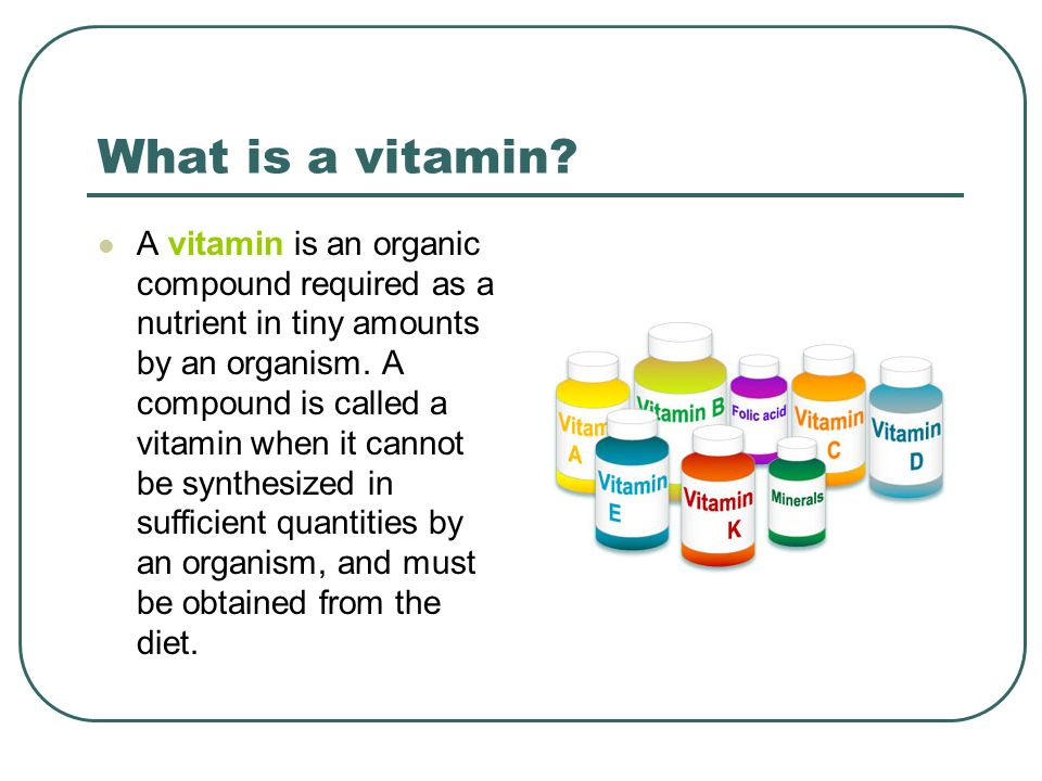 What is a vitamin