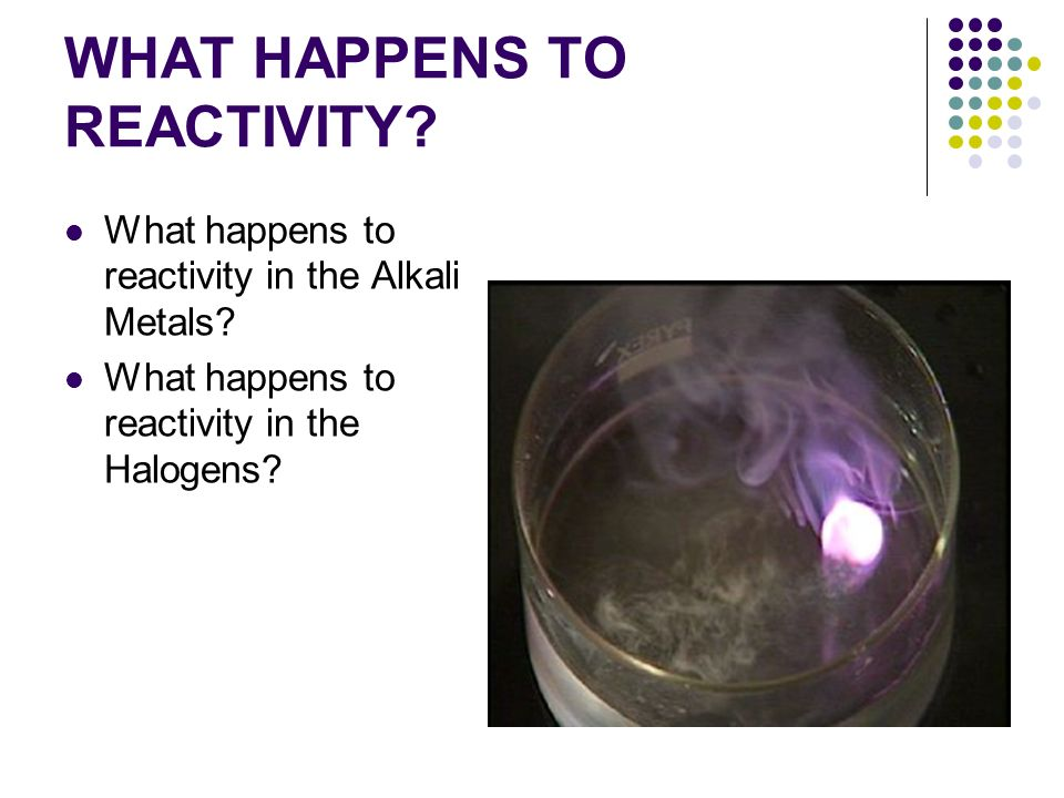 WHAT HAPPENS TO REACTIVITY