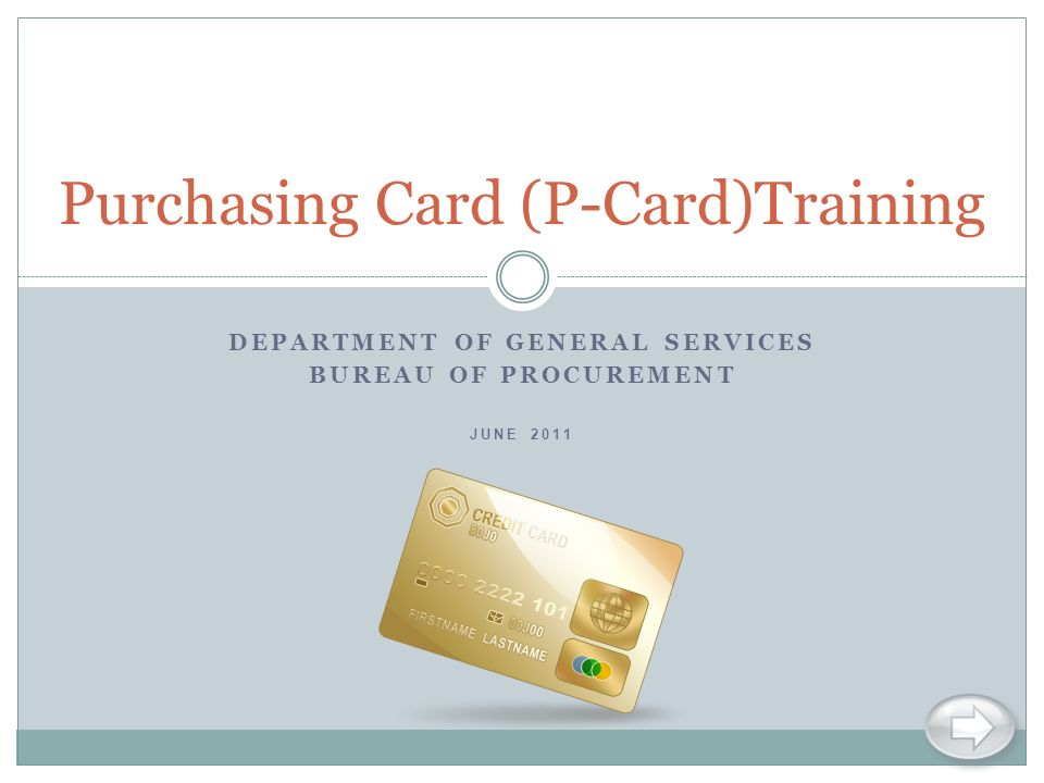 Purchasing Card (P-Card)Training