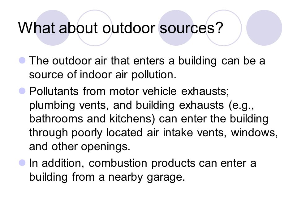 What about outdoor sources