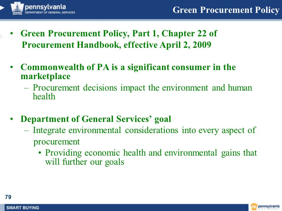 Green Procurement Policy