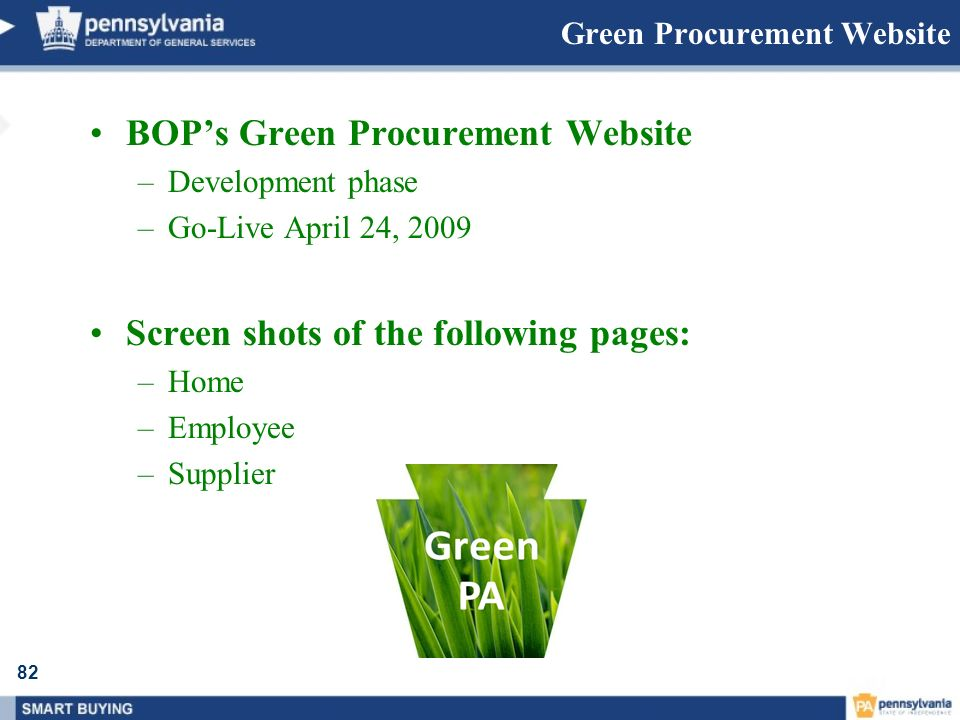 Green Procurement Website