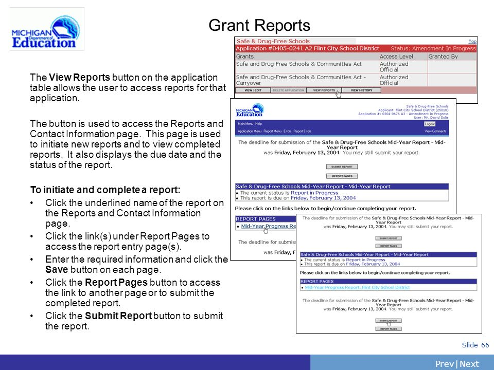 MEGS Updates for School Year The Michigan Electronic Grants System