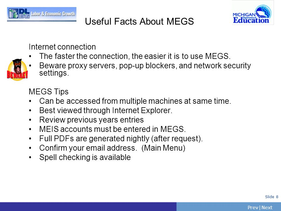 Useful Facts About MEGS