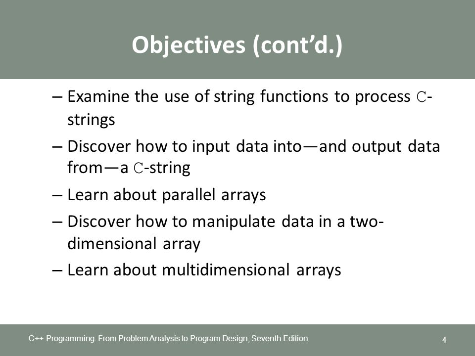 Chapter 8 Arrays and Strings - ppt download