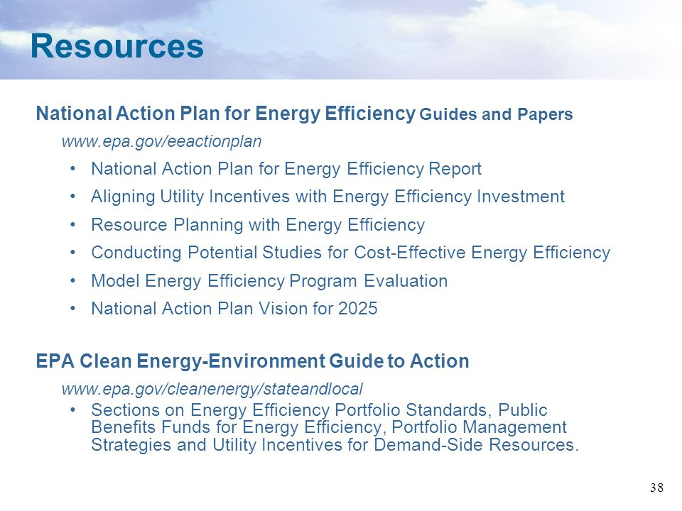 Resources National Action Plan for Energy Efficiency Guides and Papers
