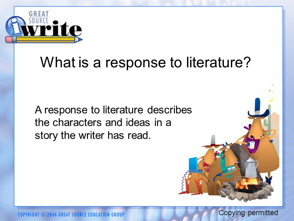 response to literature prompts