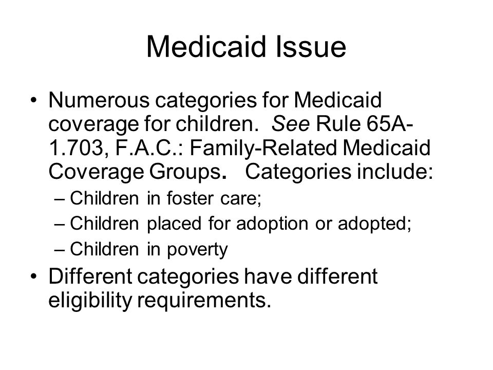 Medicaid Issue