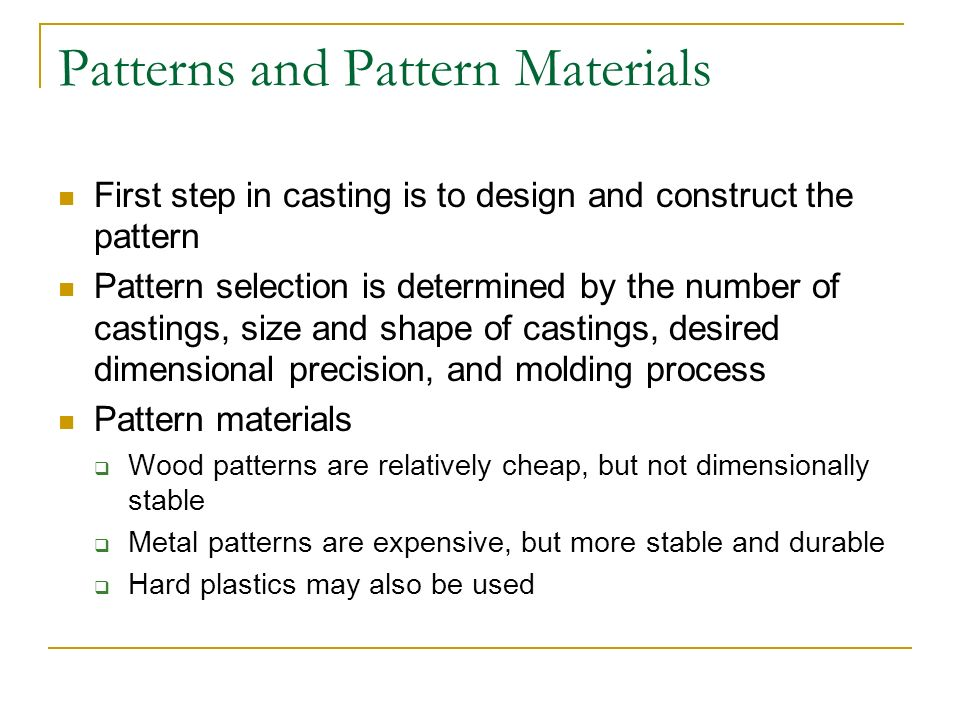Chapter 12: Expendable-Mold Casting Process - ppt video