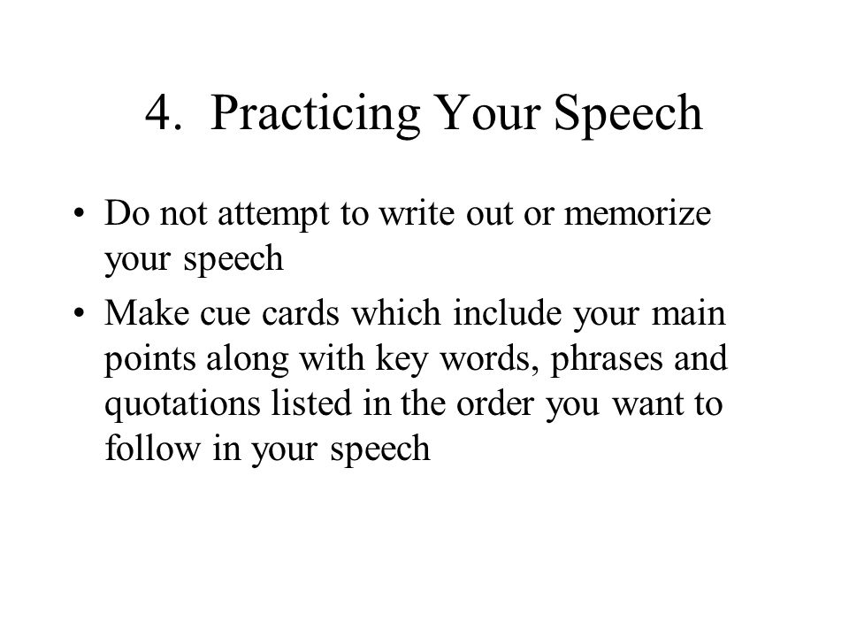 4. Practicing Your Speech