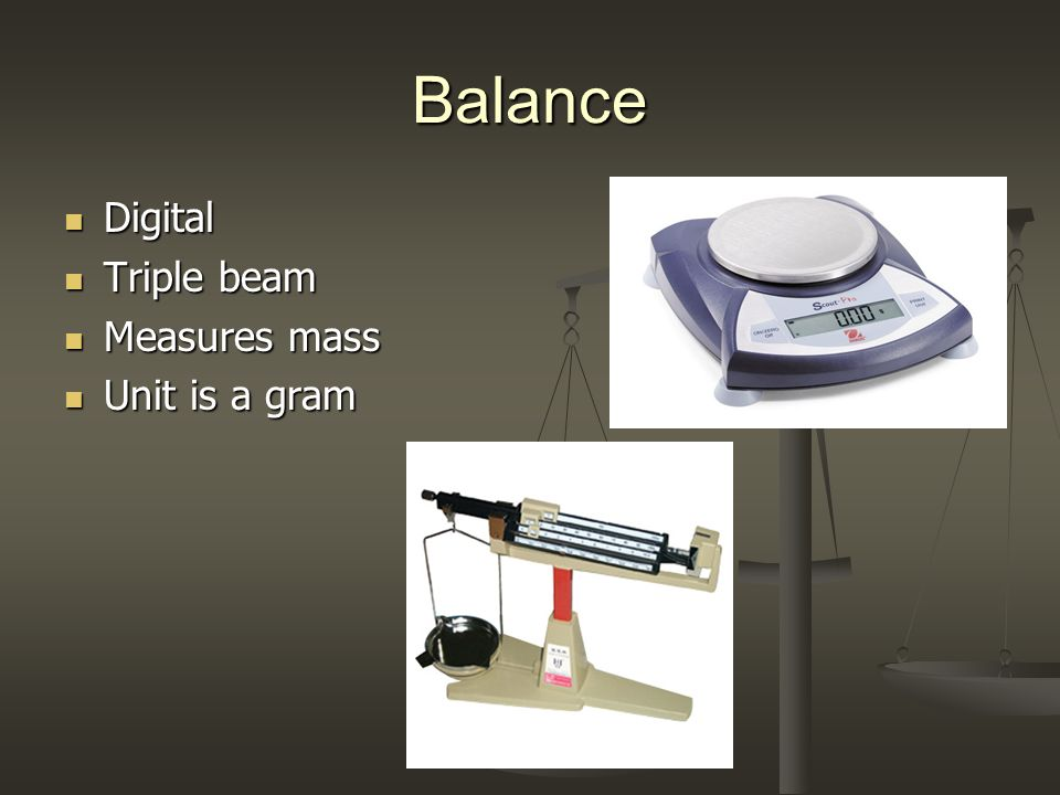 Balance Digital Triple beam Measures mass Unit is a gram