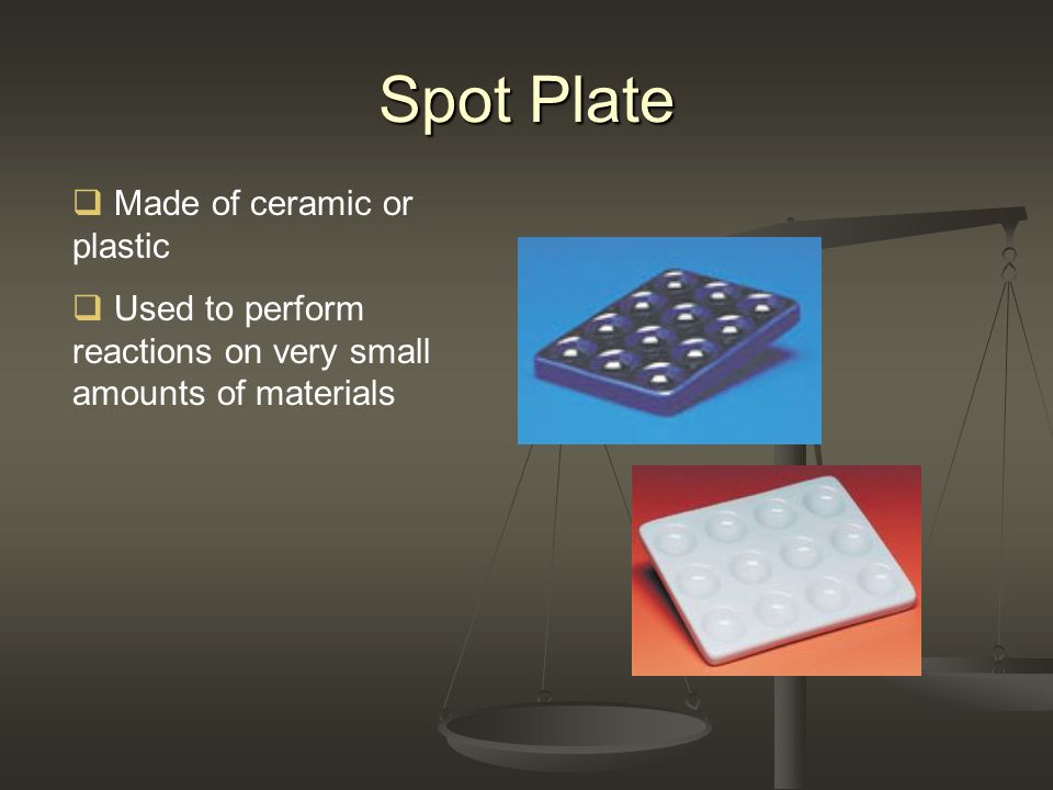 Spot Plate Made of ceramic or plastic