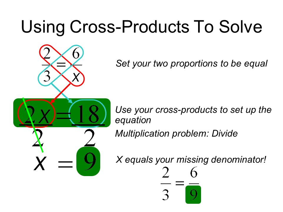 Using Cross-Products To Solve