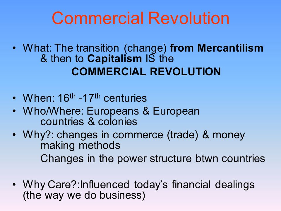 Commercial Revolution