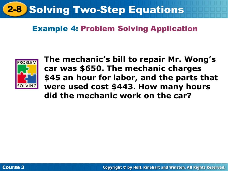 Example 4: Problem Solving Application