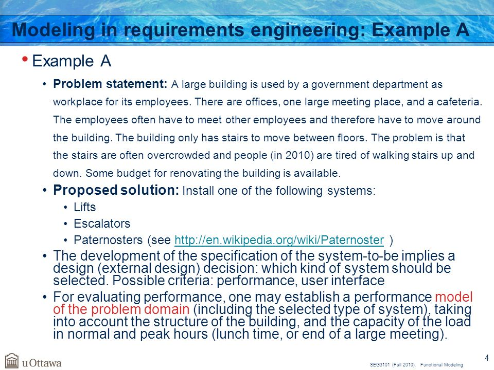 Functional modeling – requirement patterns (problem frames) ppt.