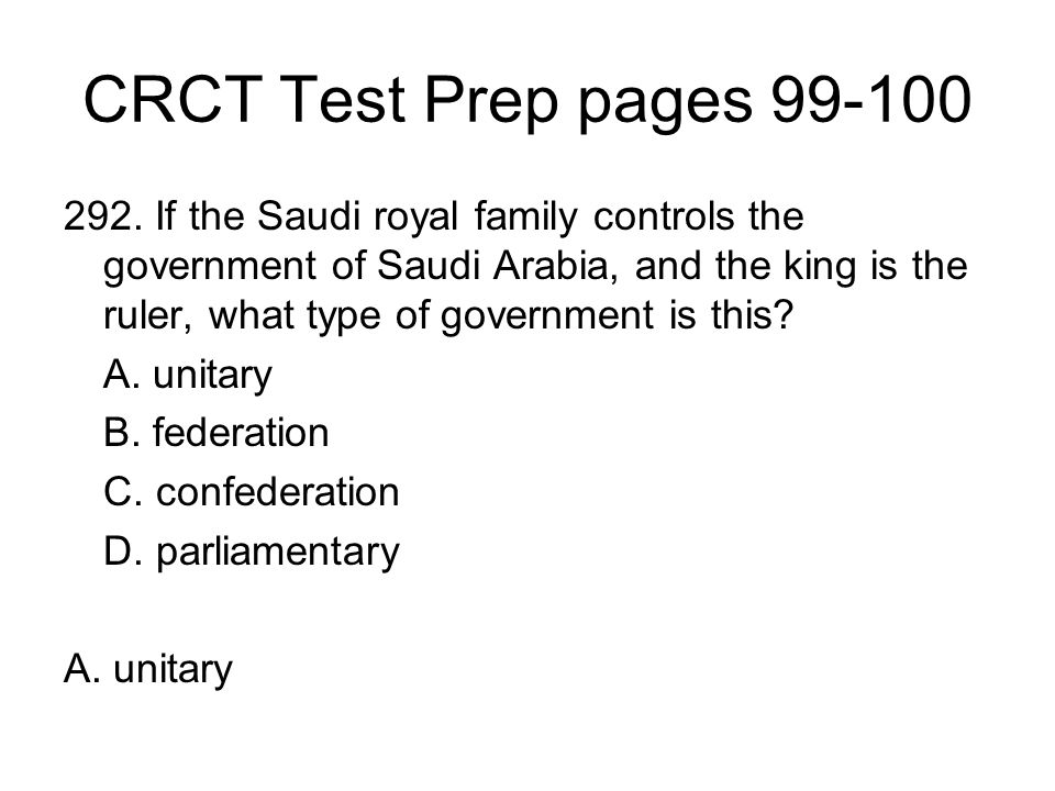 CRCT Test Prep pages 99-100
