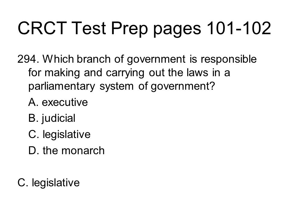 CRCT Test Prep pages 101-102