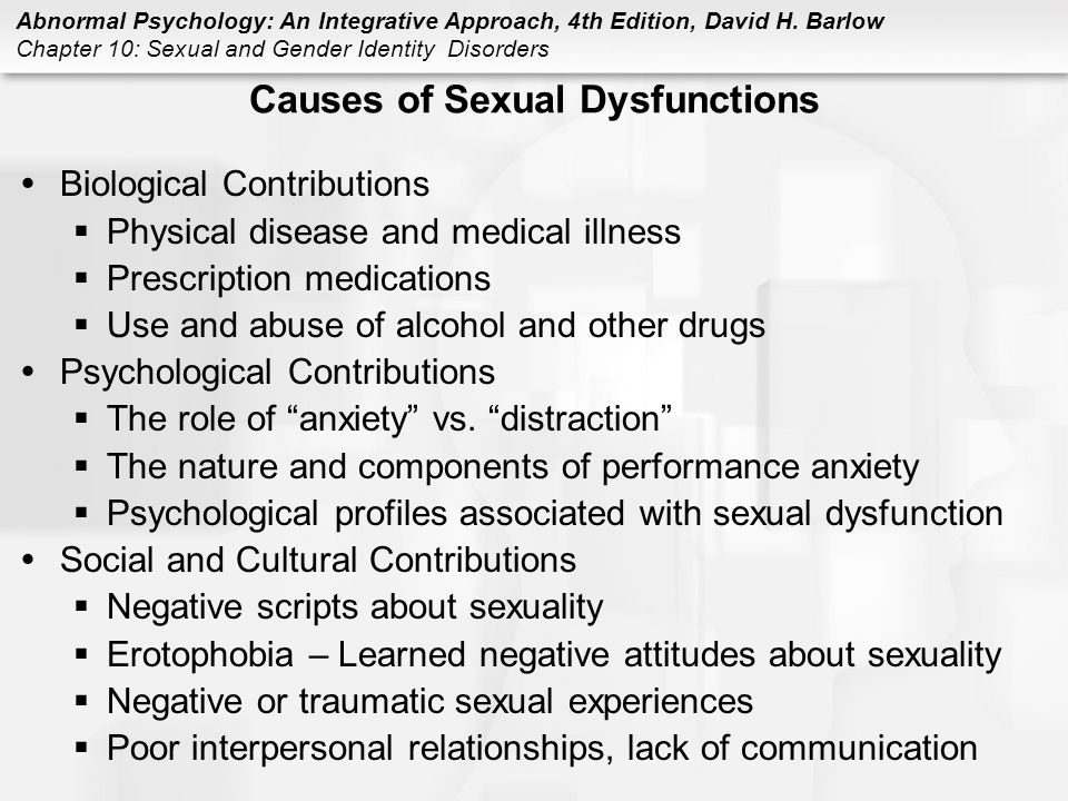 Prescription sexual dysfunction