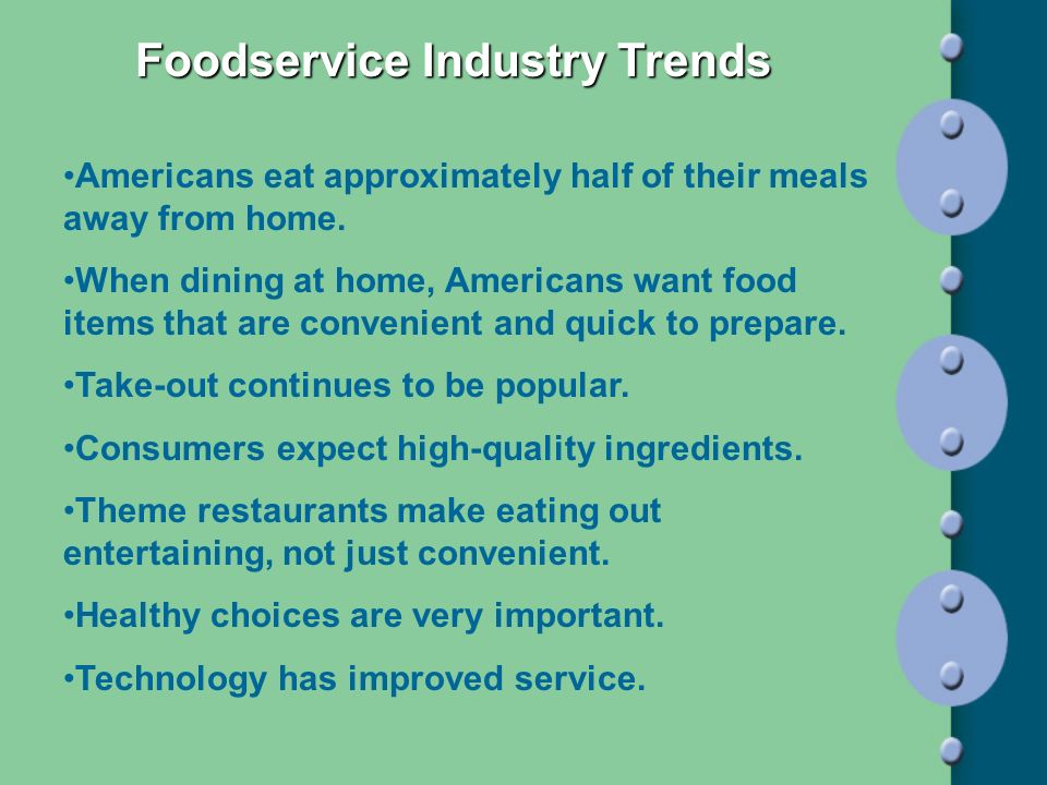 Foodservice Industry Trends